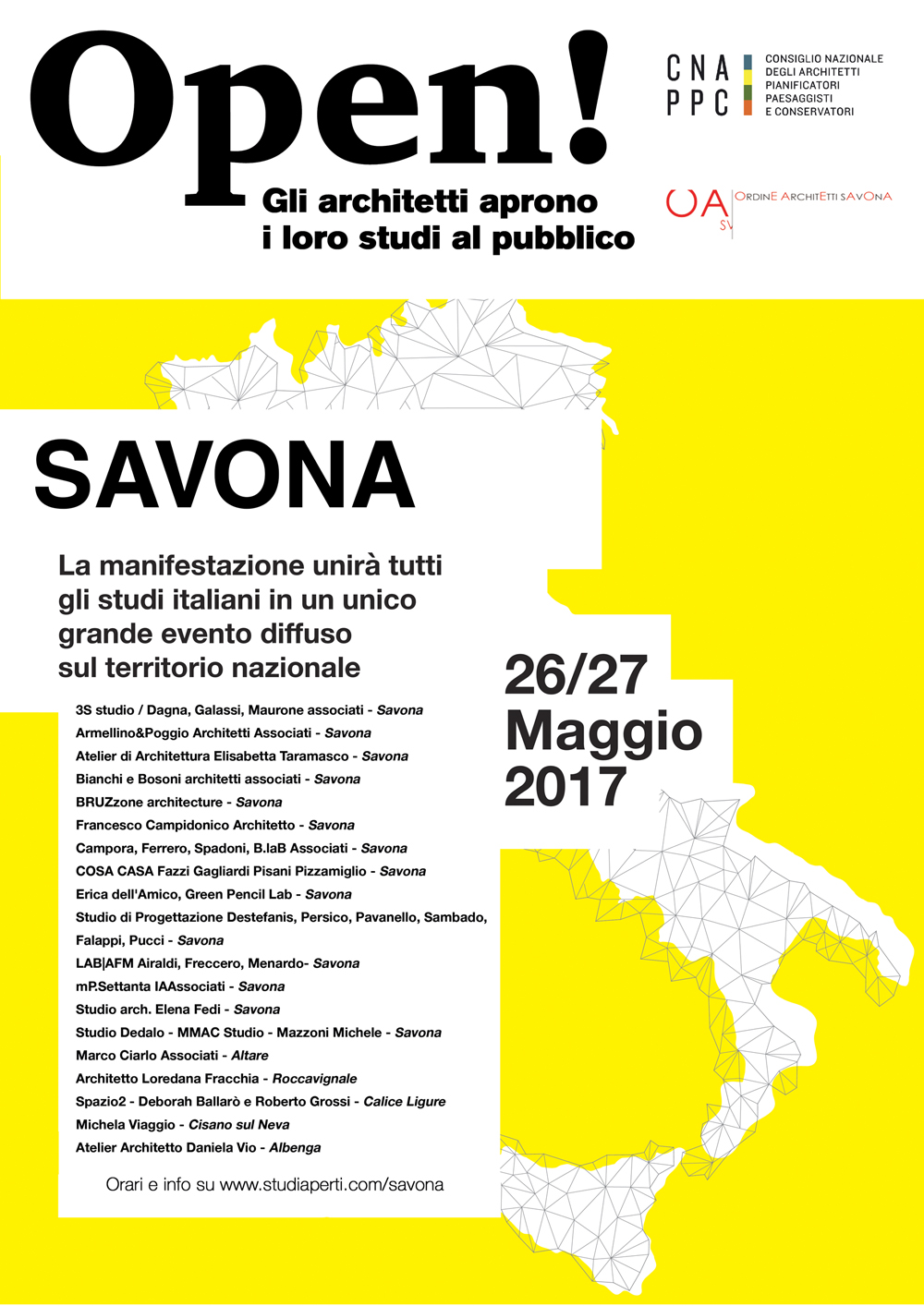 Architetti Savona Elenco open! studiaperti   architetti savona